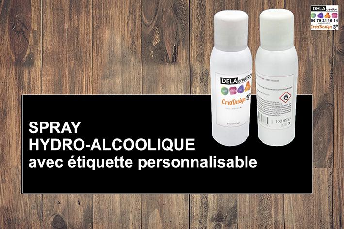 spray hydro alcoolique personnalisé